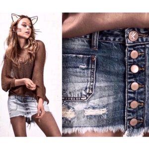 One X Oneteaspoon Blue Bouy Le Cat Mini Skirt